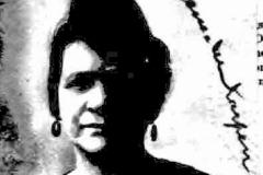 Eugenia Wilhehmina Svensson Karpen, wife of Adolph, 1919.